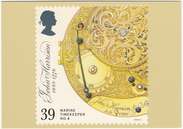 Marine Timekeepers - No.4 : Pierced And Engraved Back Of The Movement - (39p Stamp)  - (U.K.) - Postzegels (afbeeldingen)