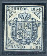 ESPAÑA       Nº  34   Sello De 4 Margenes Sin Goma   -411 - 1850-68 Kingdom: Isabella II