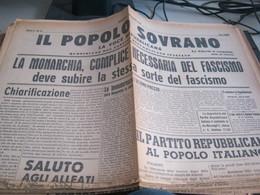 GIORNALE IL POPOLO SOVRANO 28 APRILE 1945 - War 1939-45
