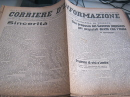 GIORNALE CORRIERE D'INFORMAZIONE 22 MAGGIO 1945 - War 1939-45