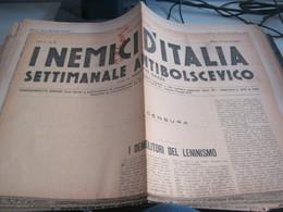 GIORNALE I NEMICI D'ITALIA SETTIMANALE BOLSCEVICO 29 FEBBRAIO 1920 - War 1939-45