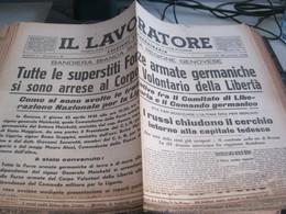 GIORNALE IL LAVORATORE 26 APRILE 1945 - War 1939-45