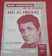 """Partition Jean Claude Pascal """"Nous Les Amoureux"""" Grand Prix Eurovision 1961 Maurice Vidalin Jacques Datin - Partitions Musicales Anciennes"""