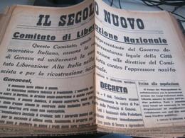 GIORNALE IL SECOLO NUOVO 24 APRILE 1945 - War 1939-45