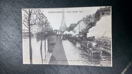 Cpa 75 Paris Inondations  Transport Attelage Tramway - Transport Urbain En Surface