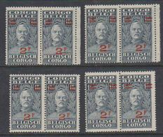 Belgisch Congo 1931 Stanley Ovptd 2F Op 1,60 F (8x) ** Mnh (38942) - Belgisch-Kongo
