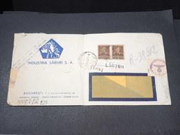 ROUMANIE - Enveloppe Commerciale De Bucarest Pour Düsseldorf En 1943 Avec Contrôle Postal - L 17954 - 2. Weltkrieg (Briefe)