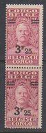 Belgisch Congo 1931 Stanley Ovptd 3.25F Op 3.50F (paar)  ** Mnh (38942A) - Belgisch-Kongo