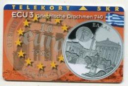 TK34024 DENMARK - Mangetic P92 Greece - Athens 1 000 Ex. MINT ! - Denmark