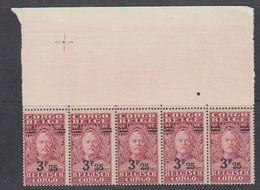 Belgisch Congo 1931 Stanley Ovptd 3.25F Op 3.50F (strip Van 5) ** Mnh (38942M) - Belgisch-Kongo