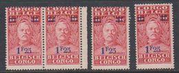 Belgisch Congo 1931 Stanley Ovptd 1.25F Op 1F (4x) ** Mnh (38942N) - Belgisch-Kongo
