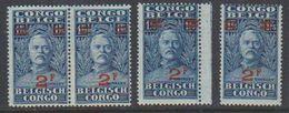 Belgisch Congo 1931 Stanley Ovptd 2F Op 1,75 F (4x) ** Mnh (38942P) - Belgisch-Kongo