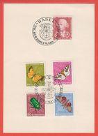 Schweiz Suisse 1957: Zu 168-172 Mi 648-652 Yv 597-601 Mit O BASEL 1.XII.1957 TAG DER BRIEFMARKE (Zu CHF 12.00) - Tag Der Briefmarke