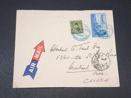 EGYPTE - Enveloppe Pour Le Canada , Oblitération En Bleu , Affranchissement Plaisant - L 17962 - Egypt
