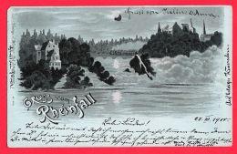 [DC12010] CPA - SVIZZERA - GRUSS VOM RHEINFALL - SUISSE - PERFETTA - RARA - Viaggiata 1900 - Old Postcard - Svizzera