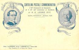 [DC12013] CPA - COMMEMORATIVA - 60° ANN. DEL SACERDOZIO DI S. S. LEONE XIII - PERFETTA Non Viaggiata 1898 - Old Postcard - Papi