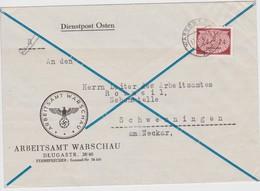 GENERAL GOUVERNEMENT 1942 LETTRE DE WARSCHAU - Occupation 1938-45