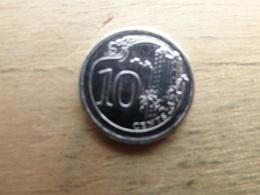 Singapour   10  Cents  2013  Km !!! - Singapur