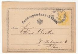 Austria Postal Stationery Postcard Correspondenz-Karte Travelled 1876 Neubau B180525 - Ganzsachen
