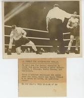 PHOTOS ORIGINALES - SPORTS - BOXE - 1938 - Combat De JOE LOUIS - HARRY THOMAS à CHICAGO - Cliché FRANCE PRESS - Sports