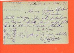 54 LUNEVILLE : J. Adam , Place Léopold (expéditeur Garnier Thiébaud)  (entiers Postaux ) Oblitération - Luneville