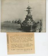 PHOTOS ORIGINALES - BATEAUX - GUERRE - MANOEUVRES DE LA ROYAL NAVY EN 1938 -  LE RAMILLIES  - Cliché FRANCE PRESS - Bateaux
