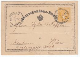 Austria Postal Stationery Postcard Correspondenz-Karte Travelled 187? Wien To Neubau B180525 - Ganzsachen