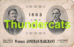 CPA 1863 1913 GOUDEN BRUILOFT WANNESANNEMAN MARCHANT - Généalogie