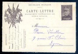 Cpa Carte Lettre Entier Posta Général Joffre    Avril18-23 - Military Service Stampless