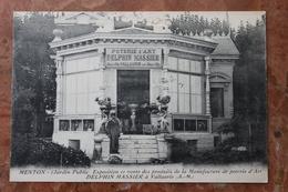 MENTON (06) - EXPOSITION DES PRODUITS DE LA MANUFACTURE DE POTERIE D'ART DELPHIN MASSIER - Menton