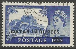 Qatar - 1957 Edinburgh Castle Type 2  10r/10s Fine Used    SG 15a - Qatar