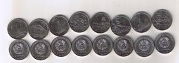 Transnistria - 1 Ruble Set 8 Coins 2014 UNC Ukr-OP - Moldova