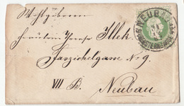 Austria Small Letter Cover Travelled 1887 Neubau B180525 - 1850-1918 Impero