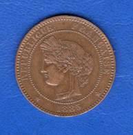 10 Cents  1885 A - D. 10 Centimes