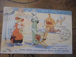 Creme Simon  Publicite  Egypte Pyramide Dromadaire - Produits De Beauté