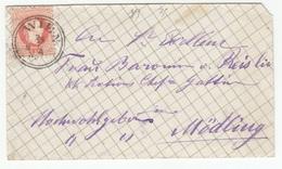 Austria Letter Cover Travelled 1880 Wien To Modling B180525 - Brieven En Documenten