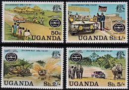 A0161 UGANDA 1977, SG 199-91 25th Anniv Safari Car Rally,  MNH - Uganda (1962-...)