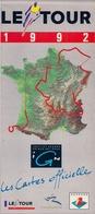 LE TOUR DE FRANCE 1992 - IGN - ANTENNE 2 (CARTE) - Maps
