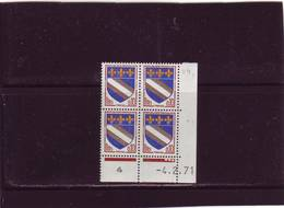 N° 1353 - 0,10F Blason De TROYES - V De U+V - 4  Tirage Du 26.1.71 Au 22;2.71 - 04.02.1971 - - 1970-1979