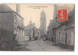 CPA 50 Sainte Marie Du Mont Rue Du Joly - France