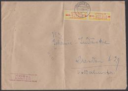 DRESDEN A20, ZKD-Brief B18IM(2) 1958 Ortsdoppel-Brief VVB Möbel, Bf Gefaltet - [6] Oost-Duitsland