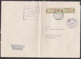 Henningsdorf Bei Berlin, ZKD-Doppel-Brief B31IF(2) 1960 Baumechanik, Bf Gefaltet, Bfm In Ordnung, Einriss Nur Bis Marke - DDR