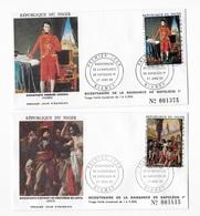 """4 Enveloppes """"Premier Jour Bicentenaire Année 1969 - Niger (1960-...)"""