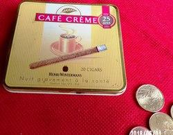 CAFÉ CRÈME 1972/1997 - BOITE MÉTALLIQUE USAGÉE PUBLICITAIRE 20 HENRI WINTERMANS CIGARES VIDE TABAC PUBLICITÉ - Serbon63 - Boites à Tabac Vides