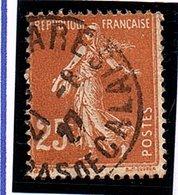 Type SEMEUSE FOND PLEIN - 25c Jaune-brun N° 235 Obl. - France