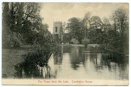 LONDON : CARSHALTON HOUSE - THE TOWER FROM THE LAKE - London Suburbs