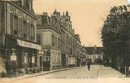 Dép 77 - Lagny Sur Marne - Lagny Thorigny - La Rue De La Gare - A Gauche Café Hôtel De La Gare - état - Lagny Sur Marne