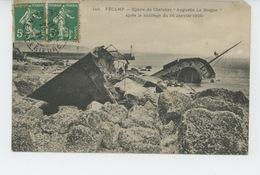 """FÉCAMP - BATEAUX - Epave Du Chalutier """"AUGUSTIN LE BORGNE """" Après Le Naufrage Du 16 Janvier 1909 - Fécamp"""