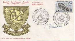 FDC Signée Graveur DECARIS  : Bathyscaphe Archimède. Journées Des Oeuvres Sociales De La Marine 1963 - 1960-1969
