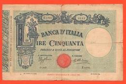 50 Lire 1935 Matrice 16 Ottobre Matrice Regno Vittorio Emanuele III° Italia - 50 Lire